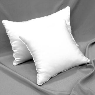 Poduszki jedwabne w poszyciu jedwabnym z wkładem silikonowym